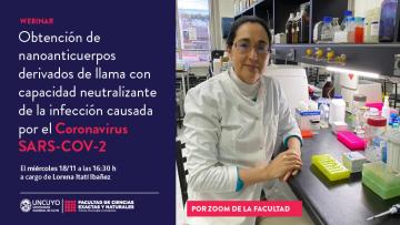 """Webinario: """"Obtención de nanoanticuerpos derivados de llama con capacidad neutralizante de la infección causada por el coronavirus SARS-CoV-2"""""""