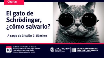 """Charla: """"El gato de Schrödinger, ¿cómo salvarlo?"""""""