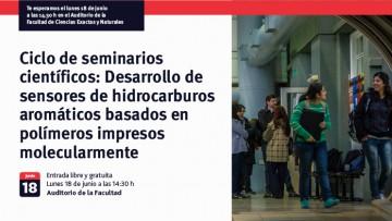 Ciclo de seminarios científicos: Desarrollo de sensores de hidrocarburos aromáticos basados en polímeros impresos molecularmente