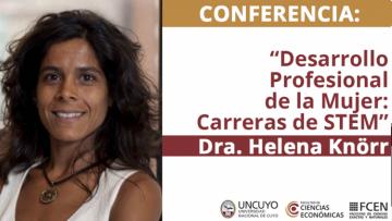 Jueves 23 de junio: conferencia \Desarrollo Profesional de la Mujer, carreras de STEM (Ciencia, Tecnología, Ingeniería y Matemáticas)\