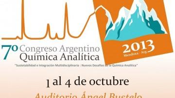 Se realizará en Mendoza el VII Congreso de Química Analítica