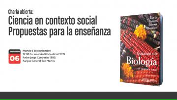 Charla abierta: Ciencia en contexto social. Propuestas para la enseñanza