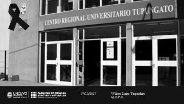 La comunidad de la FCEN lamenta el fallecimiento de Wilson Isaias Taquichiri