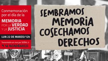Actividad por el Día Nacional de la Memoria por la Verdad y la Justicia