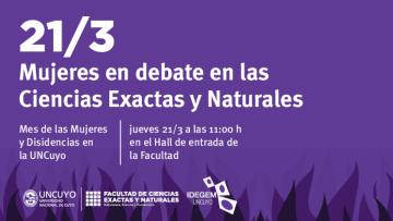 Mujeres en debate en las Ciencias Exactas y Naturales