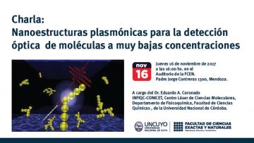 Charla: Nanoestructuras plasmónicas para la detección óptica  de moléculas a muy bajas concentraciones