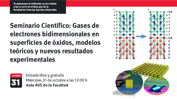 Seminario Científico: Gases de electrones bidimensionales en superficies de óxidos, modelos teóricos y nuevos resultados experimentales