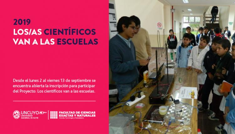 Convocatoria a participar del Proyecto: Los Científicos van a las Escuelas