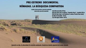 Investigadora de la Facultad y del Conicet preestrenó documental Nómadas. La búsqueda compartida, en Lavalle