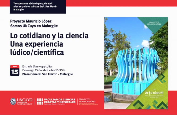 Lo cotidiano y la ciencia, experiencia lúdico/científica: Proyecto Mauricio López de la Extensión Áulica Malargüe