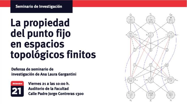 Defensa de seminario de investigación de Ana Laura Gargantini: La propiedad del punto fijo en espacios topológicos finitos