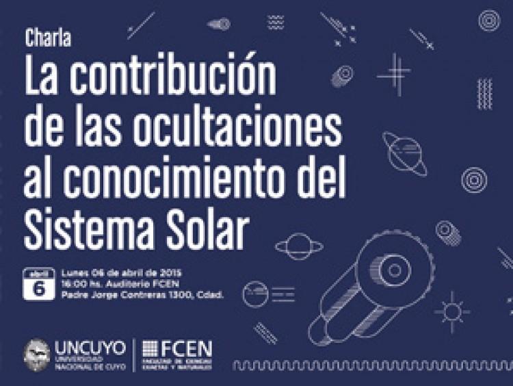 Charla: La contribución de las ocultaciones al conocimiento del Sistema Solar