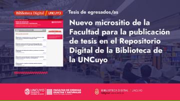 La Facultad ya cuenta con un micrositio para la publicación de tesis en el Repositorio Digital de la Biblioteca de la UNCuyo