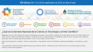 La Sede Gral. Alvear de la Facultad participará en la XIII Semana Nacional de la Ciencia y la Tecnología