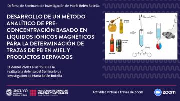 Defensa de Seminario de Investigación de María Belén Botella Arenas