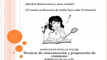 Técnicas de concentración y preparación de exámenes