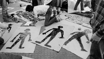 Siluetazo en la FCEN por la Memoria, la Verdad y la Justicia