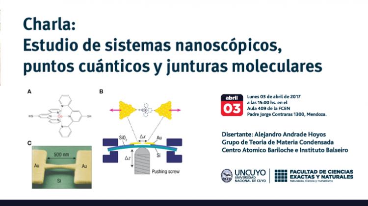 Charla Estudio de algunos sistemas nanoscópicos: Puntos cuánticos y junturas moleculares