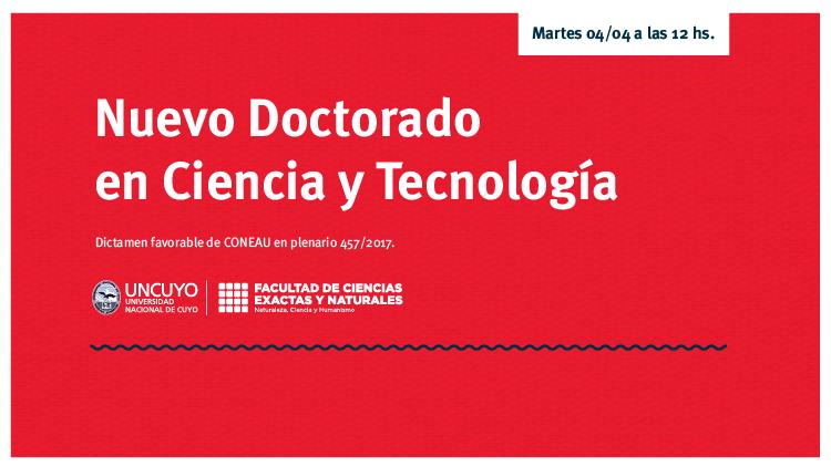 imagen que ilustra noticia Nuevo Doctorado en Ciencia y Tecnología de la Facultad de Ciencias Exactas y Naturales