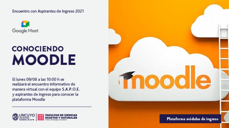 Charla informativa sobre el uso de Moodle para Aspirantes de ingreso 2021