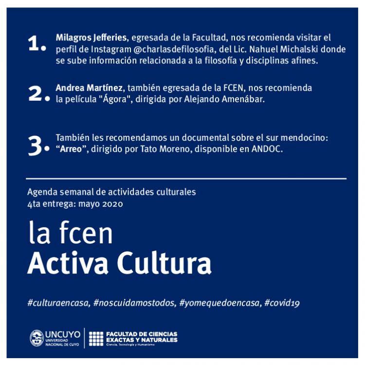 La FCEN activa cultura: quinta entrega!