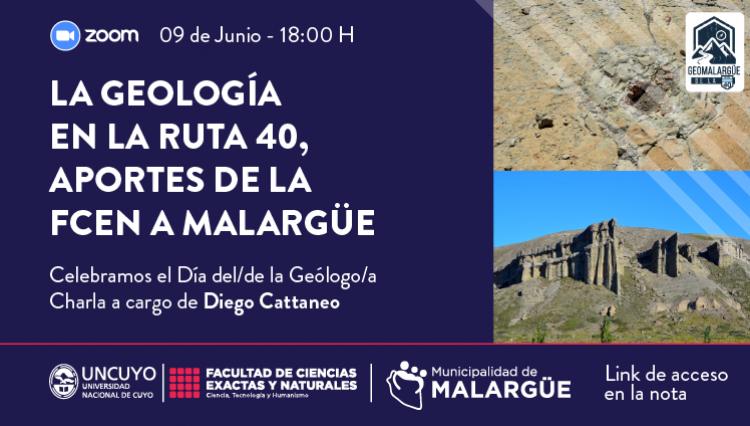 Charla La Geología de la Ruta 40, un aporte de la FCEN en Malargüe
