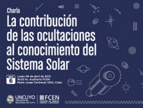 Charla: La contribución de las ocultaciones al conocimiento del Sistema Solar - 2015