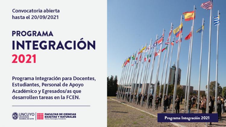 Convocatoria abierta Programa de Integración 2021