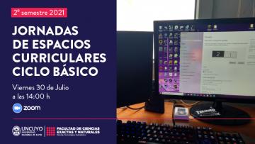 Jornadas de Espacios Curriculares del Ciclo Básico, 2° semestre 2021