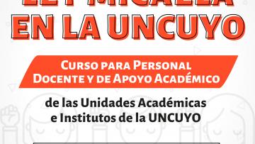 Capacitaciones de Ley Micaela para docentes y personal de apoyo académica de las unidades académicas