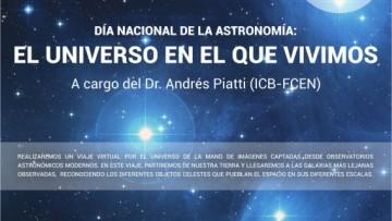 Charla: El universo en el que vivimos, a cargo del Dr. Andrés Piatti