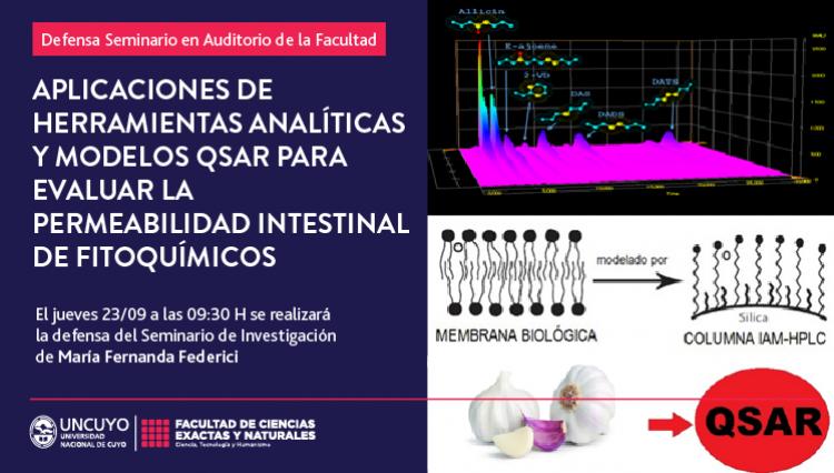 Defensa de seminario de María Fernanda Federici: Aplicaciones de herramientas analíticas y modelos QSAR para evaluar la permeabilidad intestinal de fitoquímicos